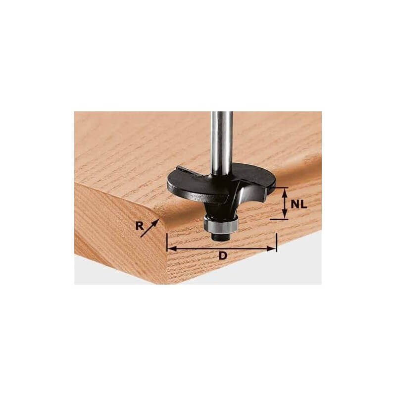 Profilinė freza spinduliams HW S8 D42/R6, kotelis 8 mm