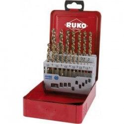 Metalo gražtų rinkinys RUKO HSS Turbo 1-10mm (19 dal.)