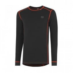 Marškinėliai Lifa-Warm ROSKILDE CREWNECK HELLY HANSEN, juodi/oranziniai