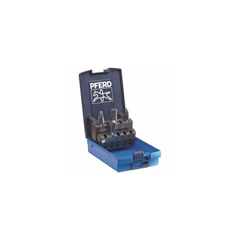 4 kietmetalio frezų rinkinys su dėžute PFERD