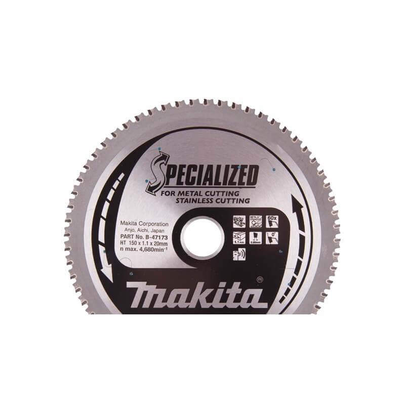 Pjovimo diskas 150x20 60T DCS551 INOX MAKITA