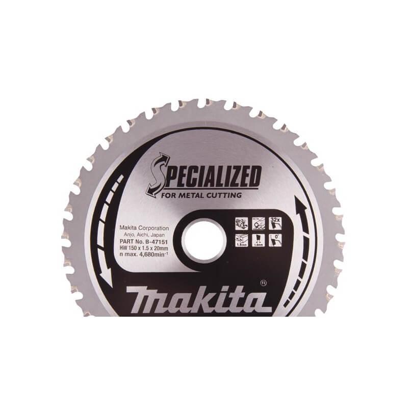 Pjovimo diskas 150x20 32T INOX MAKITA