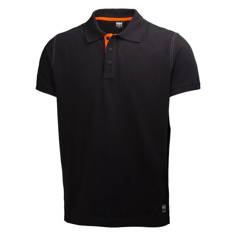 Marškinėliai Oxford Polo HELLY HANSEN, juodi