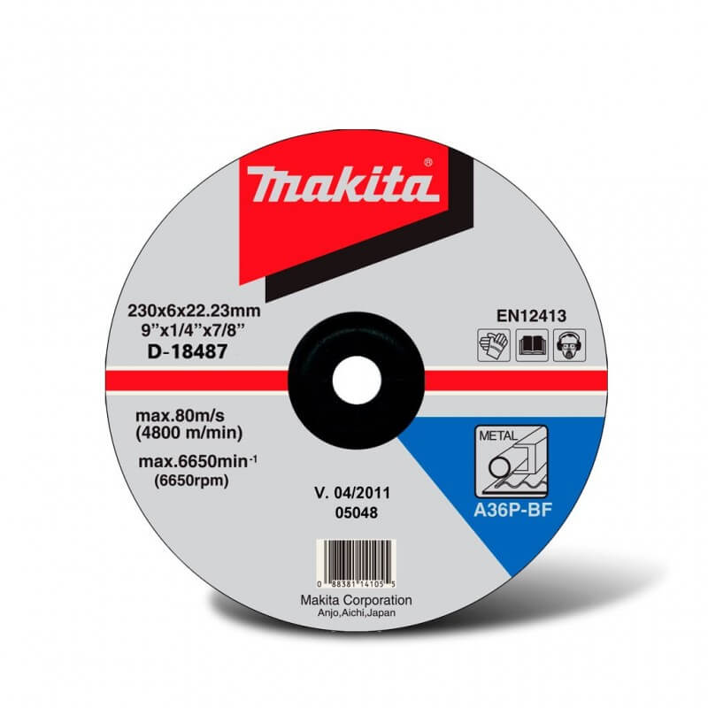 Šlifavimo diskas metalui 230x6 MAKITA A24R