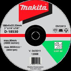 Šlifavimo diskas akmeniui 180x6 MAKITA C24R