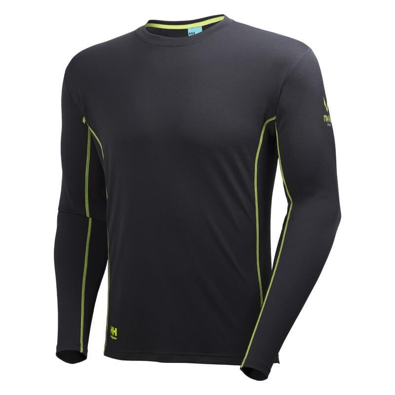 Marškinėliai Lifa Flow Magni HELLY HANSEN, juodi