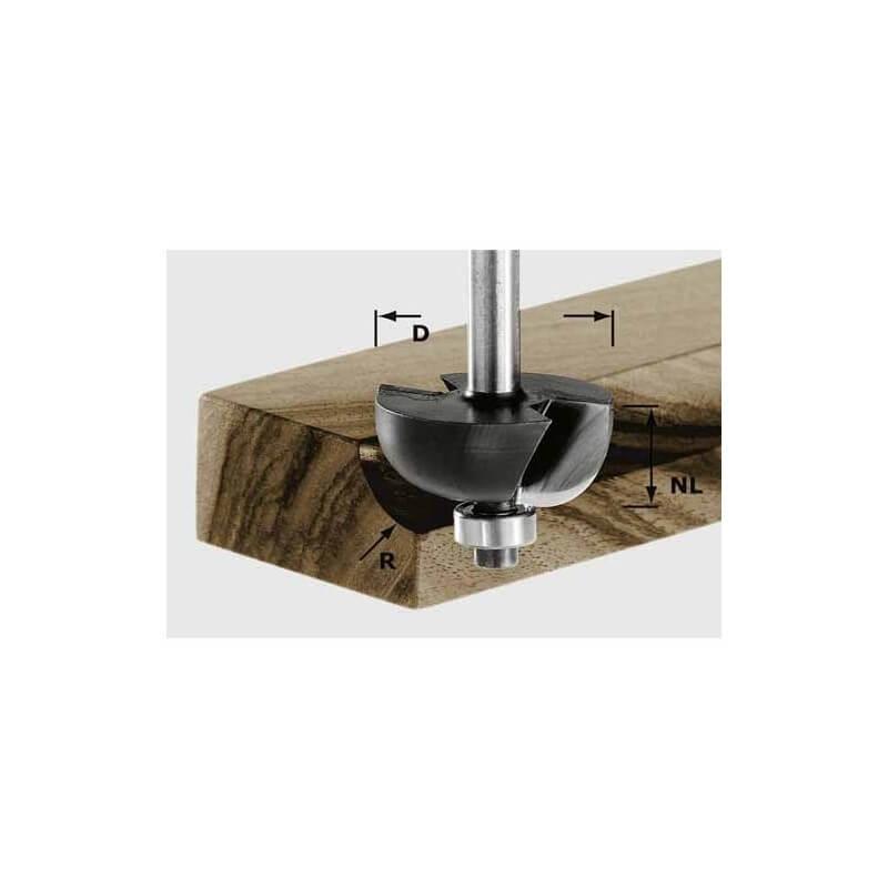Freza grioveliams FESTOOL HW S8 D31.7/R9.5 KL kotelis 8mm