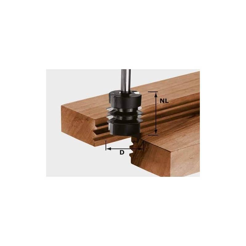 Freza sujungimams ir grioveliams FESTOOL HW S8 D34/NL32, kotelis 8 mm