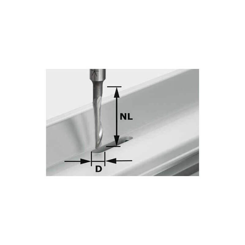 Freza aliuminiui FESTOOL HS S8 D5, kotelis 8 mm