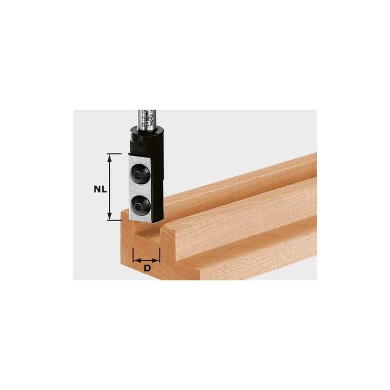 Freza grioveliams su keičiamais peiliais HW S8 D8/20 WP Z1, kotelis 8 mm