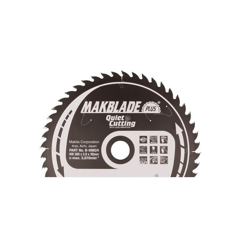 Diskas medžiui 250x30x2,8mm 40T 5° MAKITA