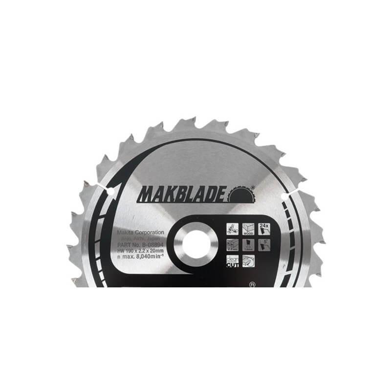 Diskas medžiui 250x30x2,3mm 60T 5° MAKITA