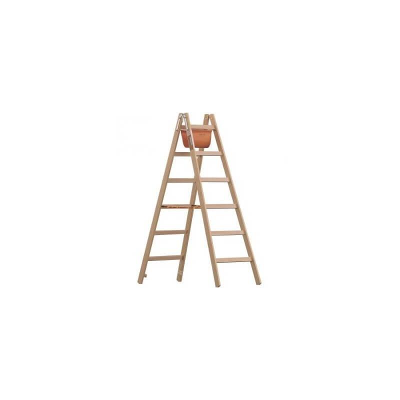 Medinės kopėčios LAYHER 1059 plačiomis 44 mm pakopomis