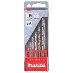 Grąžtų rinkinys metalui MAKITA 2-8 mm HSS-G