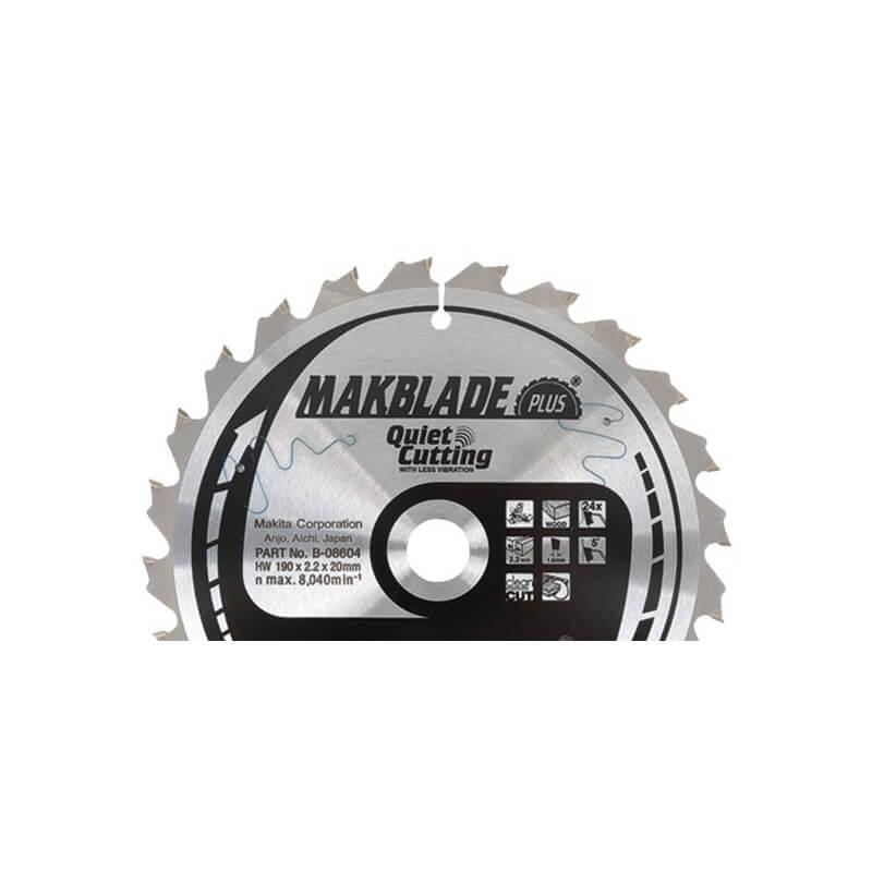 Pjovimo diskas medžiui 190x20x2,2mm 24T MAKITA