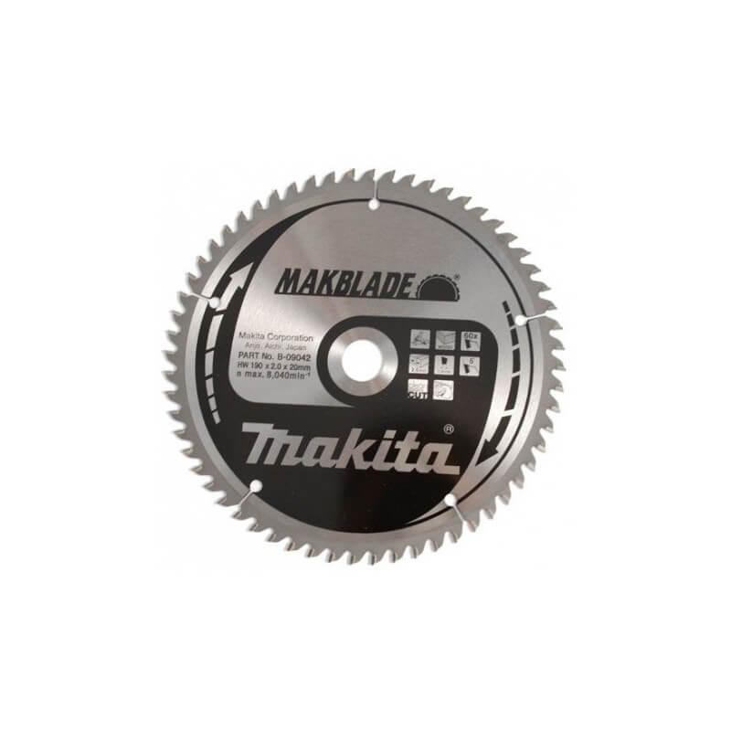 Pjovimo diskas 190x20x2,0mm 60T 5° MAKITA
