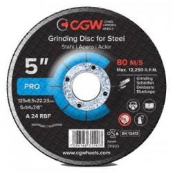 Šlifavimo diskas 125x6.5x22.5 A24 RBF T-27 CGW
