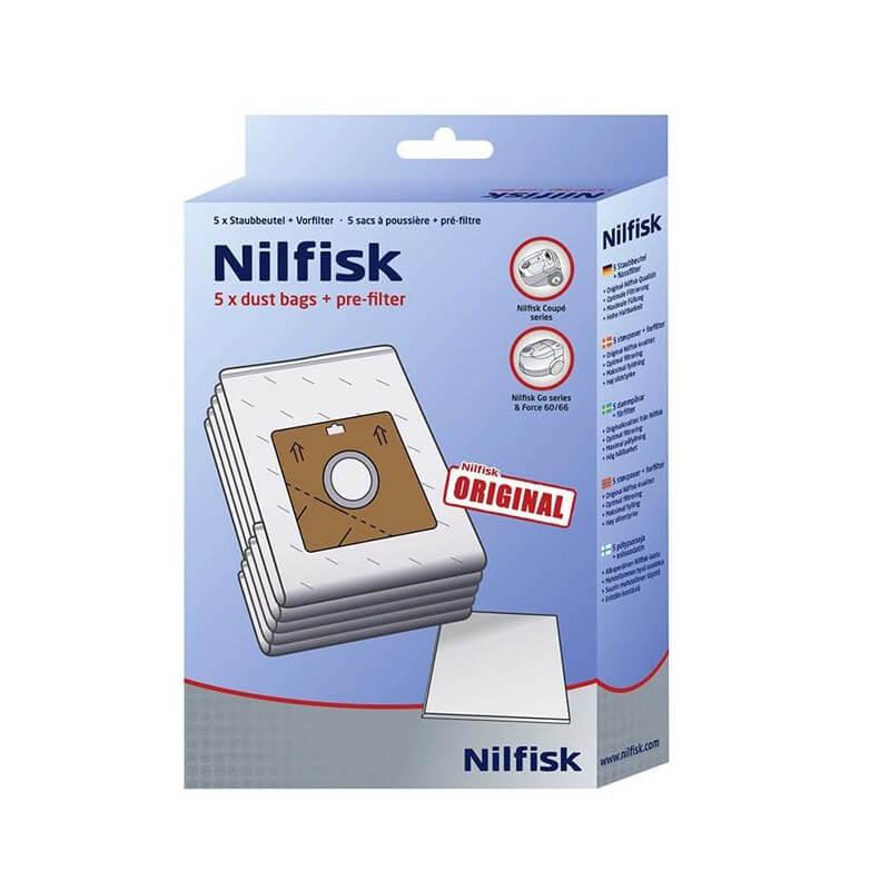 Dulkių maišai siurbliui NILFISK Coupe Neo, 5vnt.