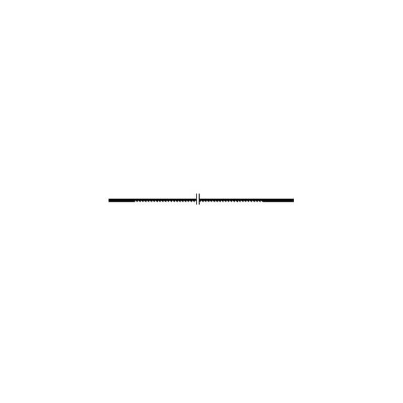 Peiliukai stambiais dantimis PROXXON 130x1,5x0,48 mm