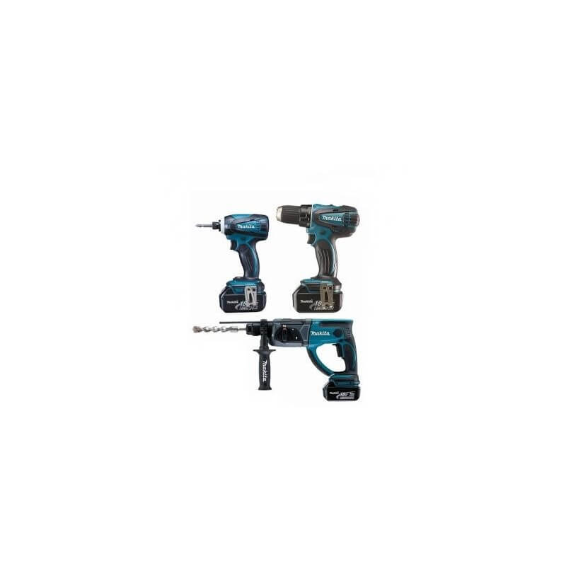 Akumuliatorinių įrankių rinkinys MAKITA DLX3021X1