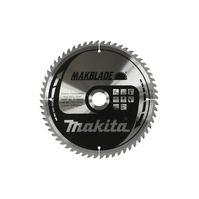 Medžio pjovimo diskas MAKITA 260x30x2,3mm 80T 5°
