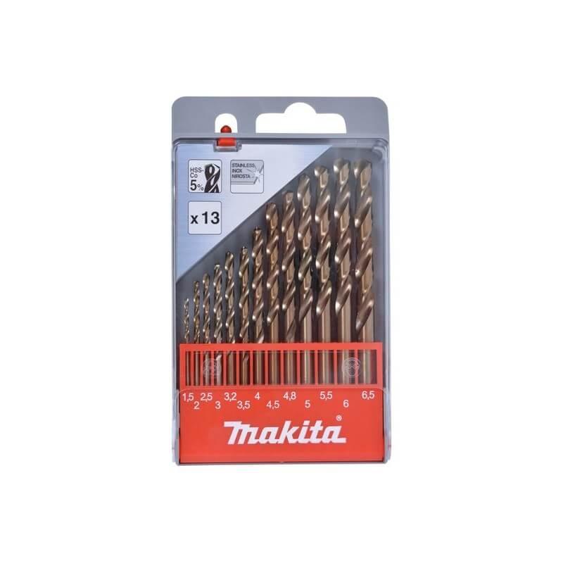 Metalo grąžtų rinkinys MAKITA HSS Co5 1,5-6,5mm, 13 vnt.