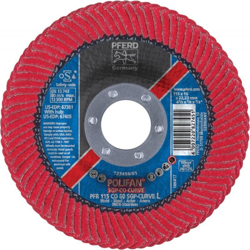Šlifavimo diskas PFERD PFR125 CO60 SGP-CURVE L
