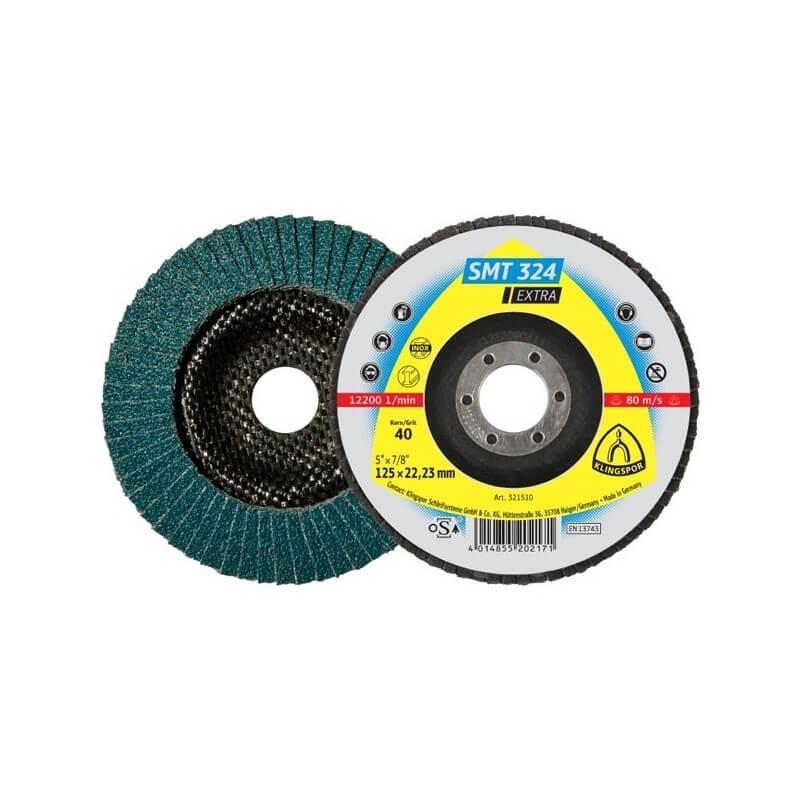 Lapelinis šlifavimo diskas KLINGSPOR SMT324 EXTRA 125x22,2 P40