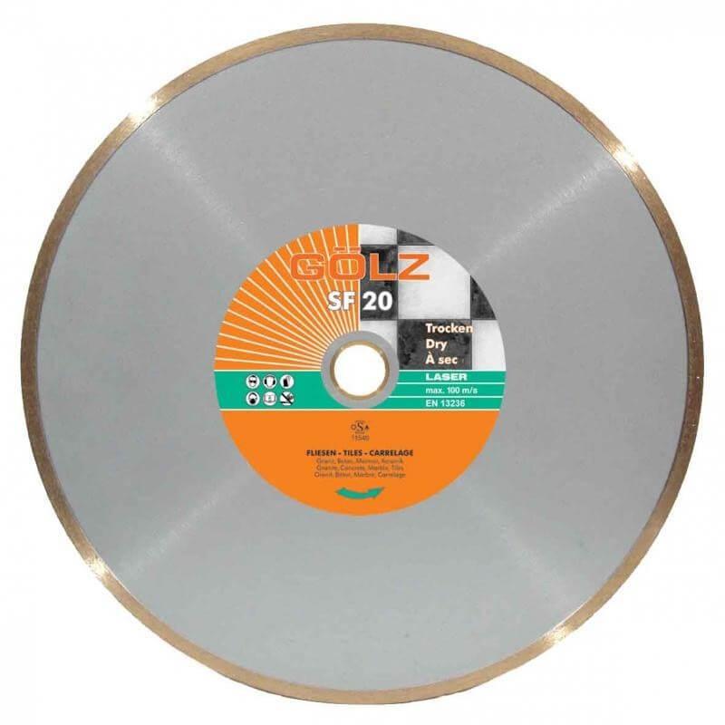 Deimantinis diskas keramikai GOLZ SF20 Ø200x30,0/25,4mm