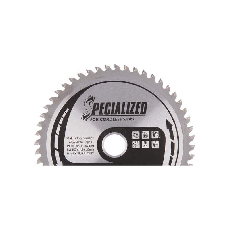Pjovimo diskas aliuminiui MAKITA 150x20x1,6mm 52T