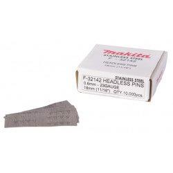 Smeigės MAKITA 0,6x18mm INOX P18S, 10000 vnt.