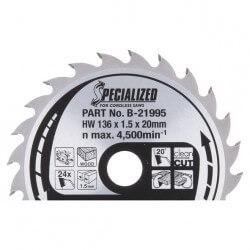 Pjovimo diskas MAKITA 136x20x1,5mm 24T 20°