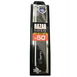 Laužomos geležtės TAJIMA Razar Black 18 mm, 50vnt.