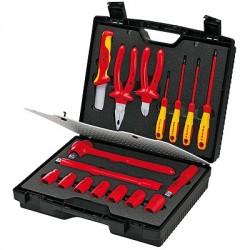 Elektriko įrankių rinkinys KNIPEX 989911, 17 dalių