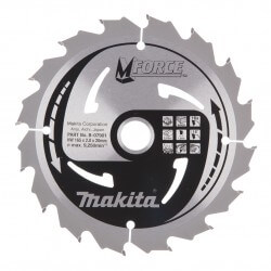 Pjovimo diskas MAKITA M-Force 165x20x2,0mm 16T 15°