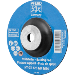 Karščiui atsparus padas fibro diskams PFERD HT-GT125 MF M14