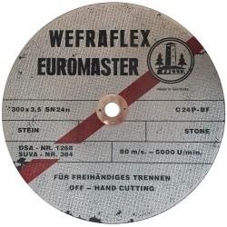 Akmens pjovimo diskas WEFRA T-C24P 300x3,5x25,4mm