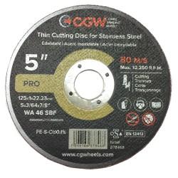 Metalo pjovimo diskas CGW 125x1x22,2 WA46 SBF T-1 INOX