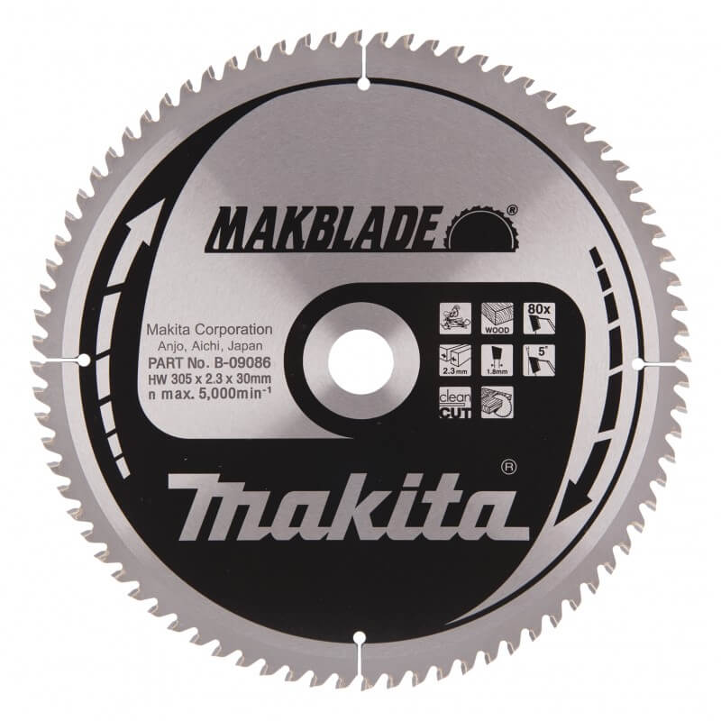 Pjovimo diskas MAKITA Makblade 305x30x2,3mm 80T 5°