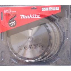 Pjovimo diskas MAKITA 235x30mm (20T+48T+60T), 3vnt.