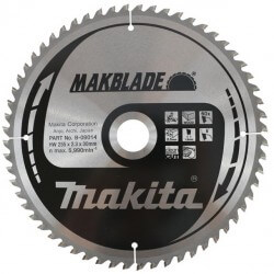 Pjovimo diskas MAKITA Makblade 255x30x2,3mm 60T 5°