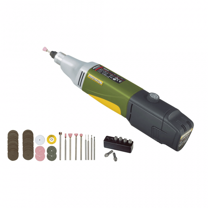 Akumuliatorinis gręžtuvas PROXXON IBS/A su priedais