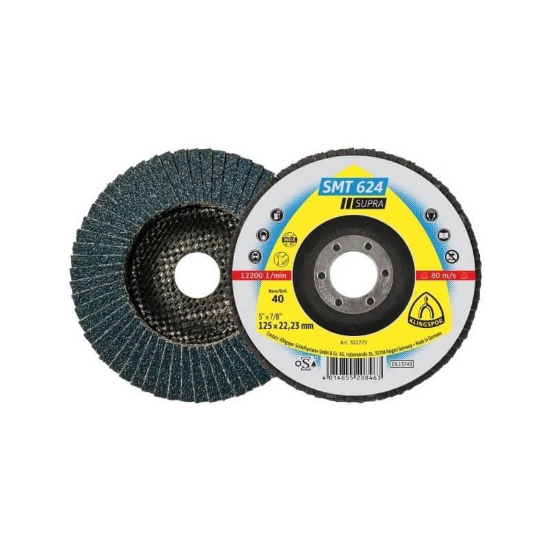 Lapelinis šlifavimo diskas KLINGSPOR SMT 624 Supra 125x22mm