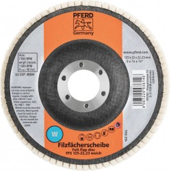 Minkštas poliravimo diskas PFERD FFS 125/22,23 W