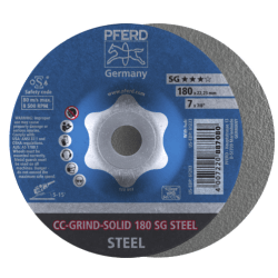 Šlifavimo diskas PFERD CC-GRIND-SOLID 180 SG-Steel