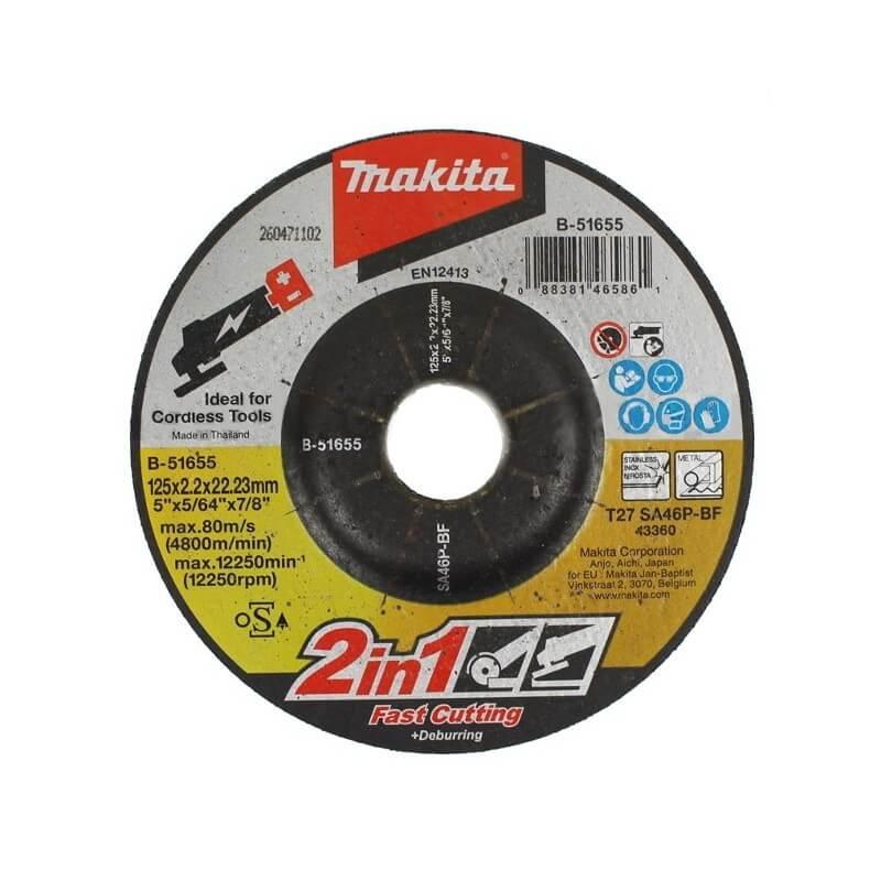 Abrazyvinis pjovimo/šlifavimo diskas MAKITA 125x2,0x22,23mm