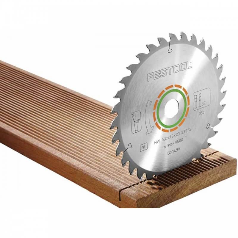 Smulkių dantukų pjovimo diskas FESTOOL 160x1,8x20mm W32