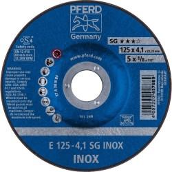 Šlifavimo diskas PFERD E125-4 A30 N SG-INOX
