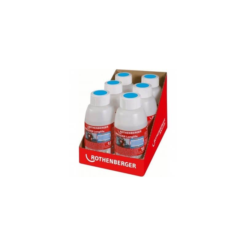 Konservavimo priemonės šildymo sistemoms ROTHENBEGER RoClean (6 buteliai po 1l)
