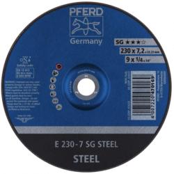 Plieno šlifavimo diskas PFERD E230-7 SG STEEL